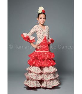 girl flamenco dresses 2016 - Aires de Feria - Melodia red & white