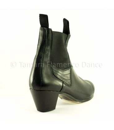 in stock flamenco shoes professionals - Begoña Cervera - Boto II black leather