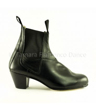 flamenco shoes for man - Begoña Cervera - Boto II black leather