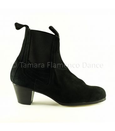in stock flamenco shoes professionals - Begoña Cervera - Boto II black suede