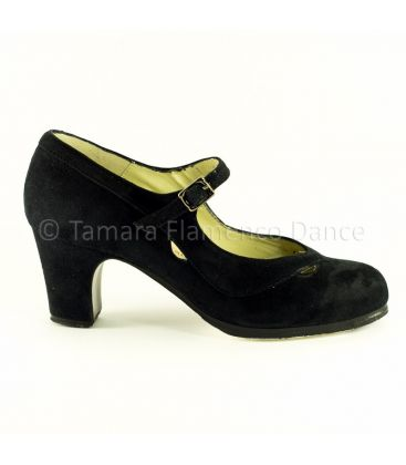 in stock flamenco shoes professionals - Begoña Cervera - Salon Correa II black suede