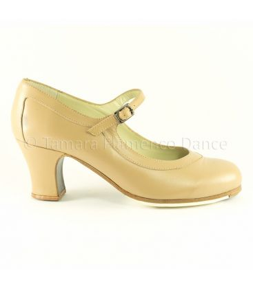 flamenco shoes professional for woman - Begoña Cervera - Salon Correa camel leather