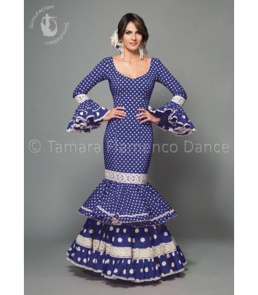 woman flamenco dresses 2016 - Aires de Feria - Maestranza blue