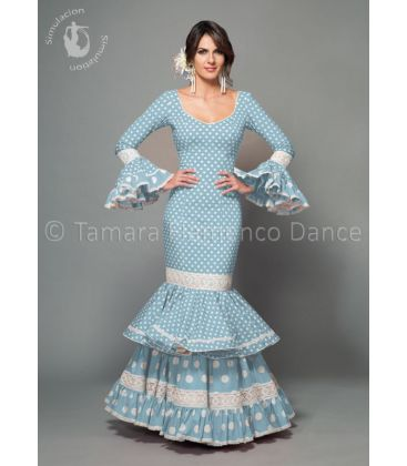 woman flamenco dresses 2016 - Aires de Feria - Maestranza light blue