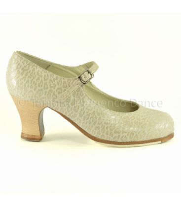 flamenco shoes professional for woman - Begoña Cervera - Correa leather design