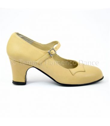 trainning flamenco shoes semiprofessional - Begoña Cervera - Semiprofessional (Begoña Cervera) trainning beige leather