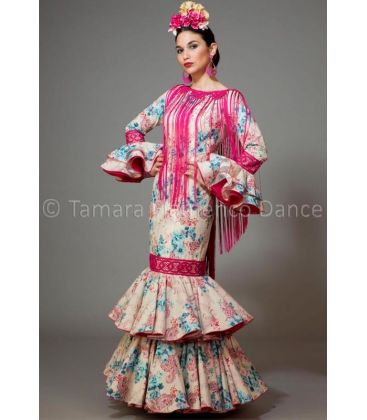 woman flamenco dresses 2016 - Aires de Feria - Brisa rose & blue printed
