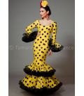 Copla yellow black polka dots