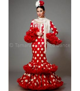 woman flamenco dresses 2016 - Aires de Feria - Copla red & white polka dots