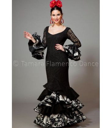 woman flamenco dresses 2016 - Aires de Feria - Feria black with white printed