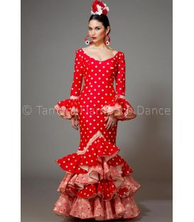 woman flamenco dresses 2016 - Aires de Feria - Feria red with white polka dots