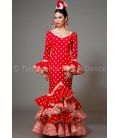 Feria red with white polka dots