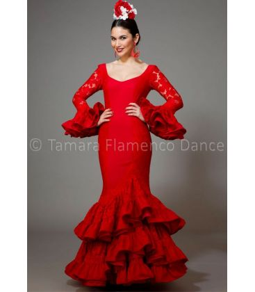 woman flamenco dresses 2016 - Aires de Feria - Manuela red lace