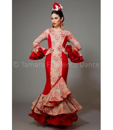 woman flamenco dresses 2016 - Aires de Feria - Pasarela printed lace