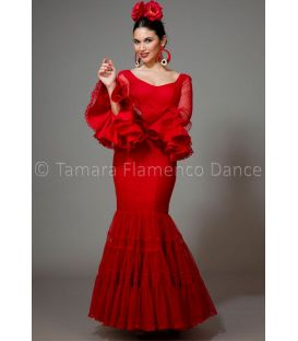 woman flamenco dresses 2016 - Aires de Feria - Paseo red plumeti