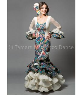 woman flamenco dresses 2016 - Aires de Feria - Rosa printed flowers