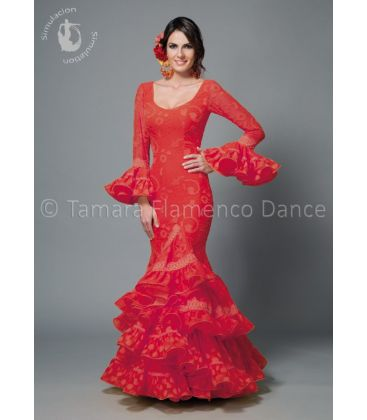 woman flamenco dresses 2016 - Aires de Feria - Sofia red lace