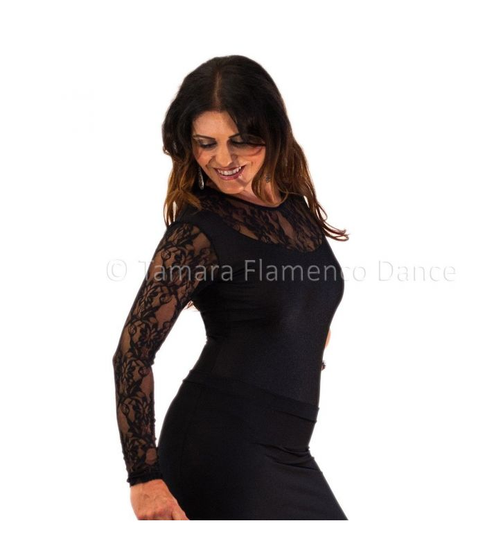 Tiento Body Lycra And Lace Maillots Bodys Flamenco Tops For