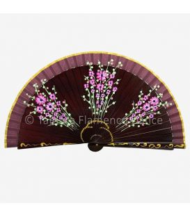 Hand painted fan (20 cm) - Design Bouquet (Customizable)