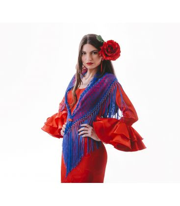 spanish shawls - - Woman Shawl made of plumeti
