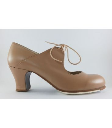 in stock flamenco shoes professionals - Begoña Cervera - Arty camel leather