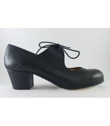 in stock flamenco shoes professionals - Begoña Cervera - Arty black leather