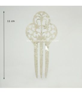 Small Comb 16 - Mother of Pearl