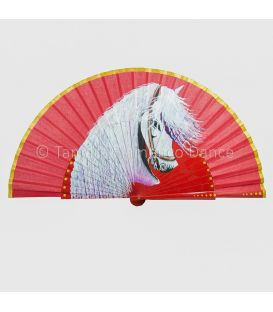 Fan (27 cm) - Horse design (Customizable)