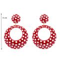 "Earrings ""argollas big polka dots"