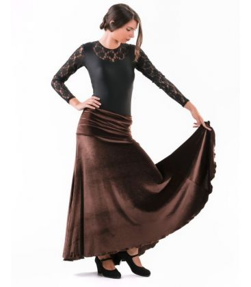 flamenco skirts for woman - - Almeria - Velvet (skirt-dress)