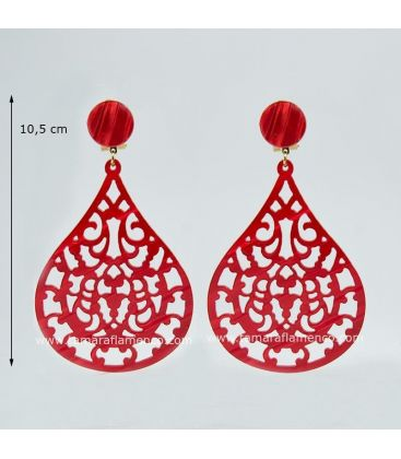 flamenco earrings - -