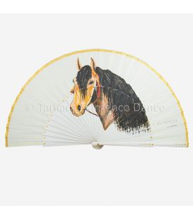 Spanish Fan with horse hand painted
