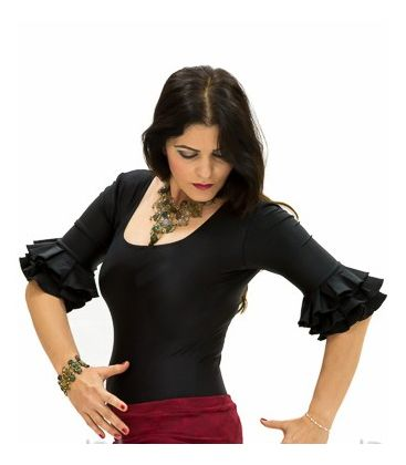 maillots bodys flamenco tops for woman - - Jaleo Body - Lycra
