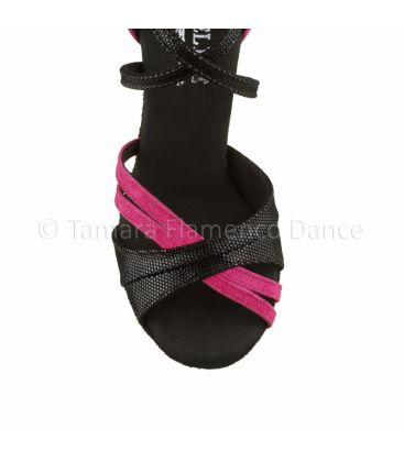ballroom and latin shoes for woman - Rummos - Elite Athena 61 black and fuxia