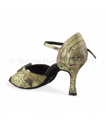 ballroom and latin shoes for woman - Rummos - Elite Cleopatra fantasy green leather