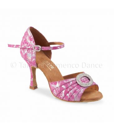 ballroom and latin shoes for woman - Rummos - Elite Cleopatra fantasy pink leather