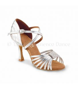 ballroom and latin shoes for woman - Rummos - Elite Cristina silver