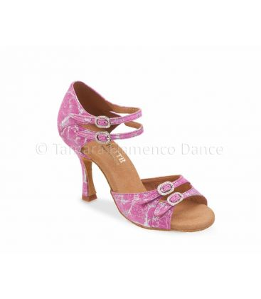 ballroom and latin shoes for woman - Rummos - Elite Elena fantasy pink leather