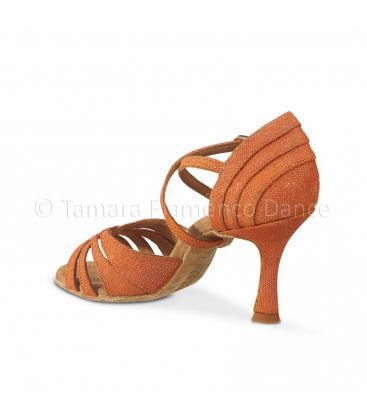 ballroom and latin shoes for woman - Rummos - Elite Paris fantasy orange