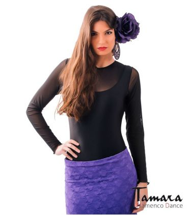 maillots bodys flamenco tops for woman - - Tiento Body - Lycra and chiffon