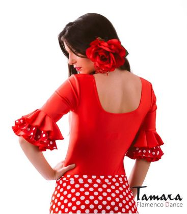 maillots bodys flamenco tops for woman - - Jaleo polka dots - Lycra body