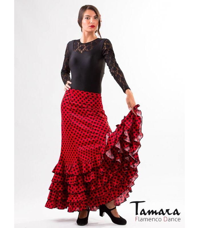 c0bf719b8 Gitana with polka dots Flamenco skirts for WOMAN | Tamara Flamenco