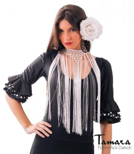 Short necklace with fringes TAMARA