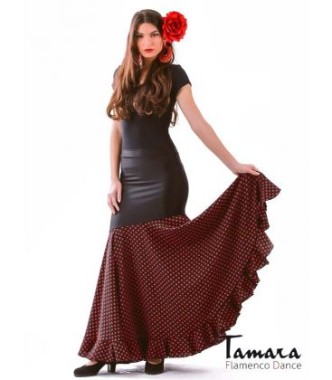 flamenco skirts for woman - - Granada with SMALL polka dots & extra flounce - Lycra and Koshivo