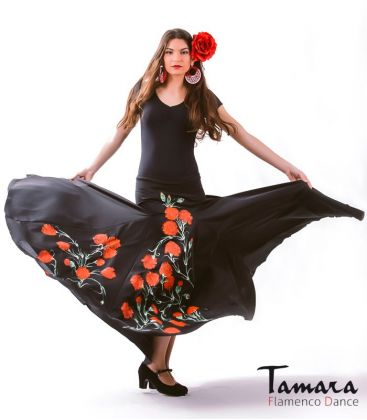 flamenco skirts for woman - - Jerez with flowers (Handmade-painted)