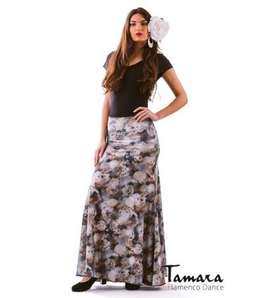 flamenco skirts for woman - - Almeria Grey Printed L.Edition