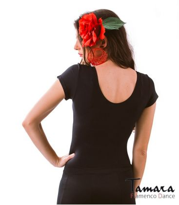 maillots bodys y tops de flamenco de mujer - - Body MC con Frunce - Supplex