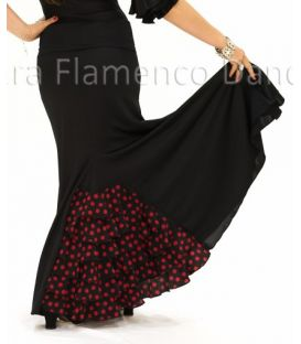 flamenco skirts for girl - - Almeria with polka dots girl - Knitted (skirt-dress)