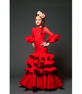 Flamenco dress Geranio girl red