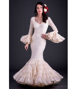 flamenco dresses 2017 - Roal - Desplante Superior Ivory